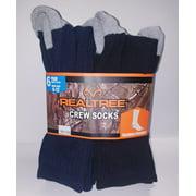 REALTREE Men's Comfort Crew Socks 6 Pair Pack - Dk Denim, Black