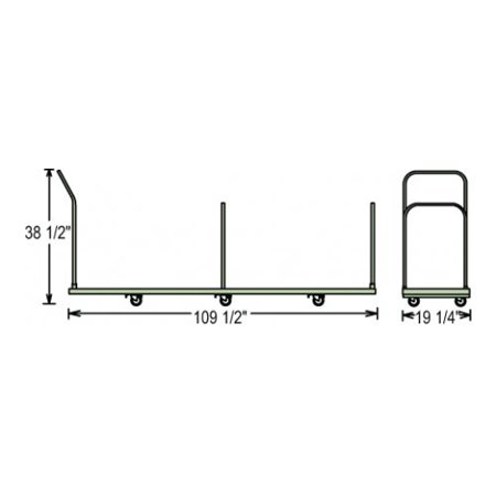 National Public Seating Folding Chair Dolly