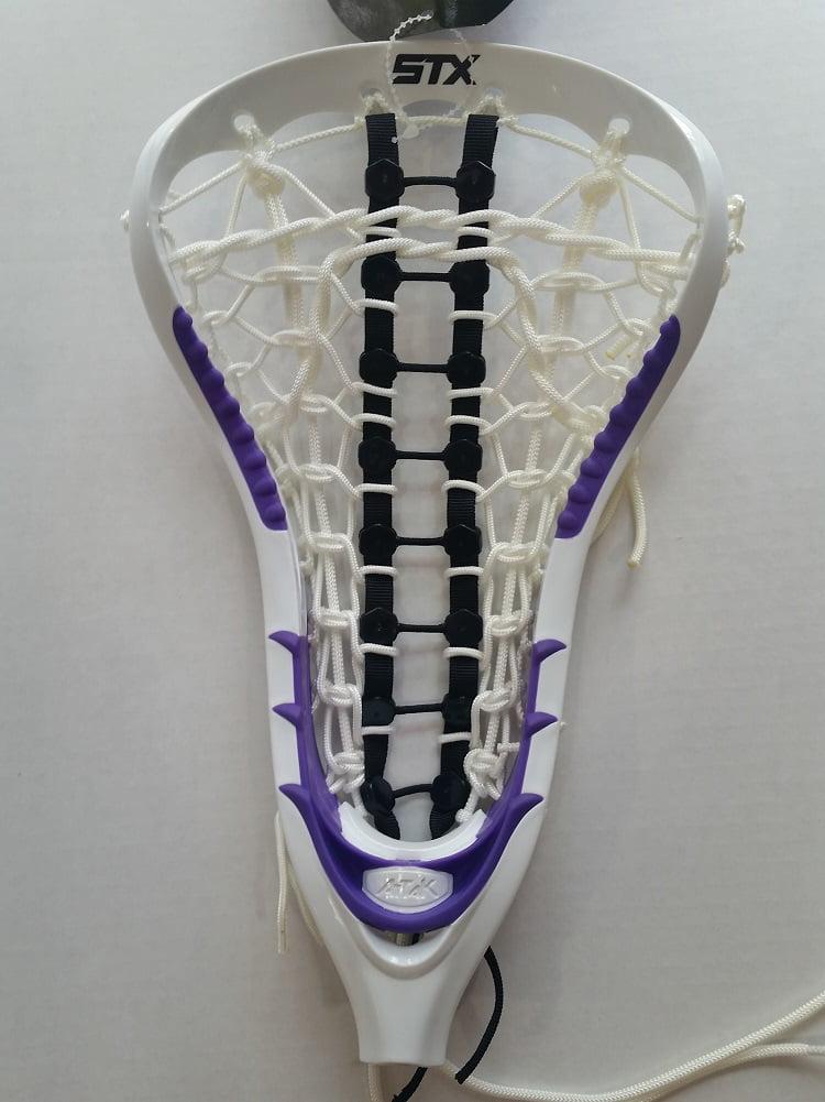 STX Women's AtTaK Lacrosse Head Strung, White Purple by Stx