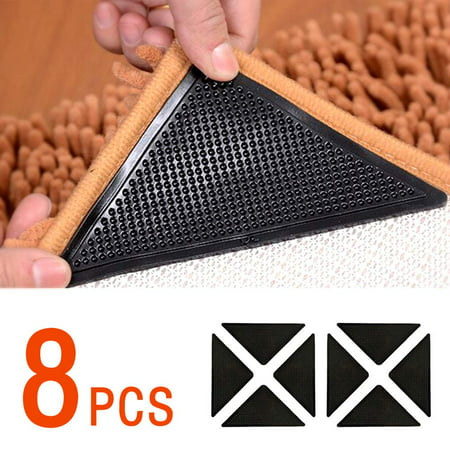 8 Pack Area Rug Gripper Pad Non Slip Anti Curling Carpet