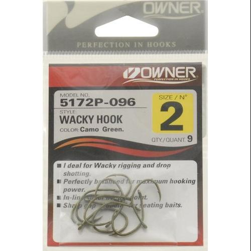 Fishing: Owner Wacky Worm Hooks Multi-Colored