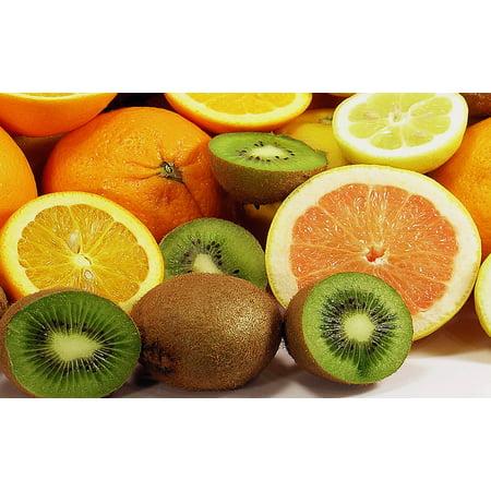 Orange Tropical Fruit - Canvas Print Lemon Oranges Southern Fruits Tropical Fruit Fruit Stretched Canvas 10 x 14