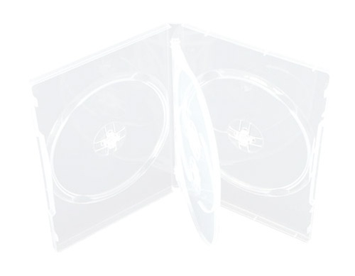 CheckOutStore 50 STANDARD Clear Quad 4 Disc DVD Cases by