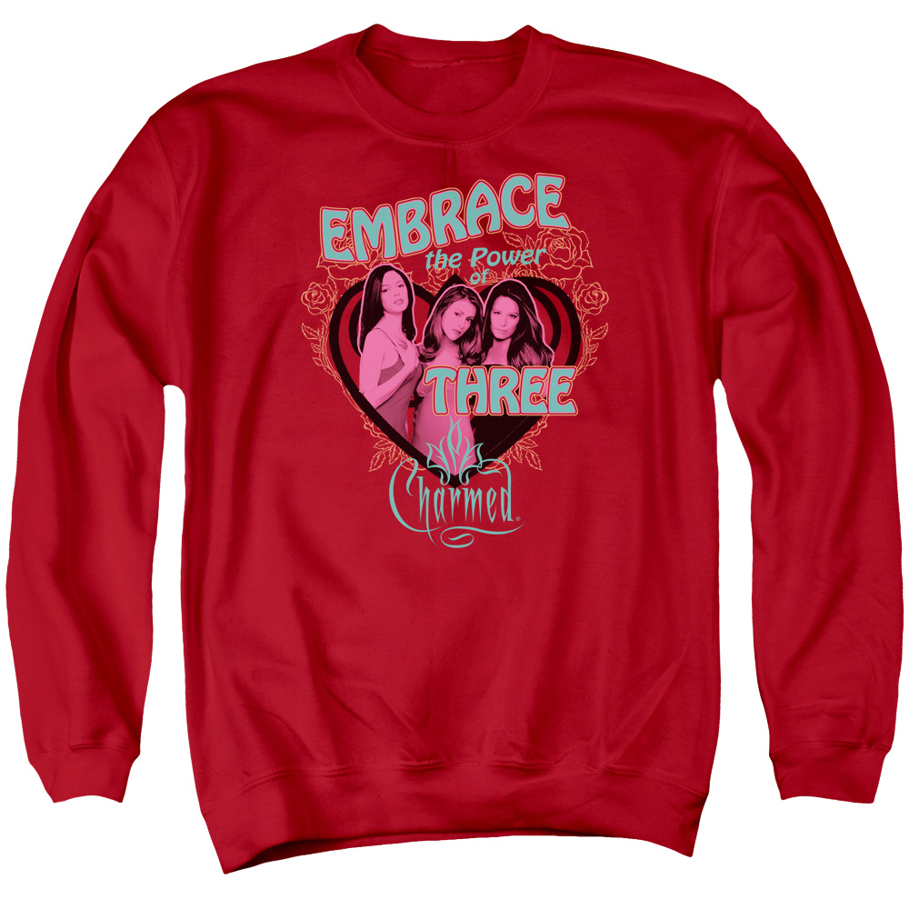 Charmed Embrace The Power Mens Crewneck Sweatshirt
