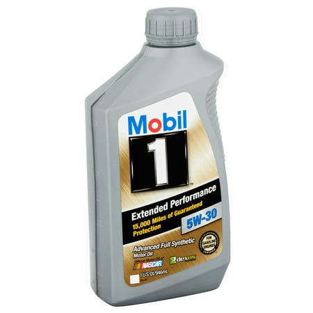 (3 Pack) Mobil 1 5W-30 Extended Performance Full Synthetic Motor Oil, 1 qt.