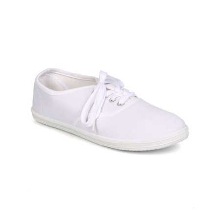 New Women Refresh Lemon Canvas Round Toe Classic Lace Up Sneaker Size