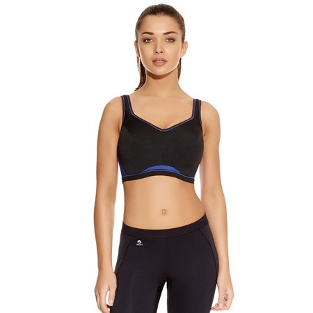 Freya Epic Women`s Underwire Crop Top Sports Bra with Molded Inner, 34B