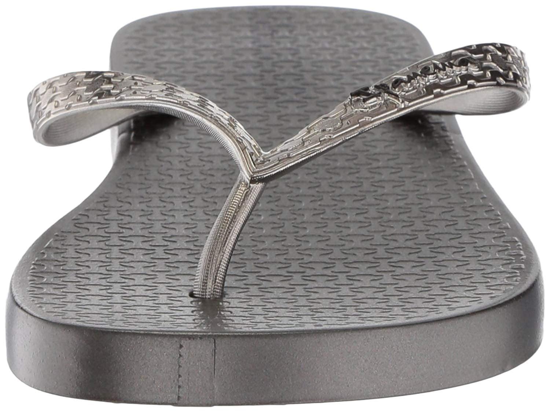 Ipanema Womens Silver Glam Flip Flops