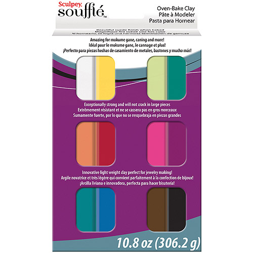 Polyform SUMP0750 Sculpey Souffle Multipack Clay, 0.9-Ounce, 12-Pack Multi-Colored