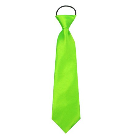 SHOPFIVE Adjustable Elastic Tie School Boys Baby Wedding Solid Color Ties Child - School Color Neckties