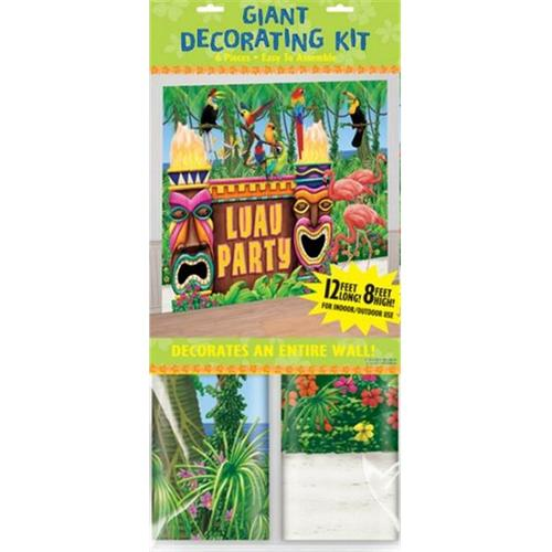 Amscan 249693 Luau Giant Party Decorating Kit - Pack of 24
