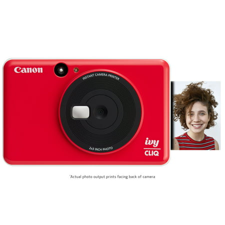 Canon IVY CLIQ Instant Camera & Portable Printer (Ladybug Red) ()