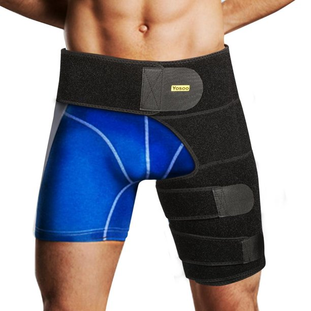 Lv. life Men & Women Groin Support Compression Brace Hamstring Hip Injury Support Sleeve Leg
