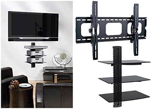 """2xhome Universal Flat LED LCD Plasma Flat TV Wall Mount Tilt for 35"""" 40"""" 45"""" 50"""" 60""""... by 2xhome"""