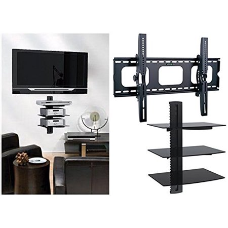 - 2xhome - Universal Flat LED LCD Plasma Flat TV Wall Mount Tilt for 35