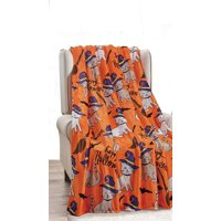 """Dcor&More Happy Halloween Microplush Throw Blanket (50"""" x 60"""") - Spooky Cats"""