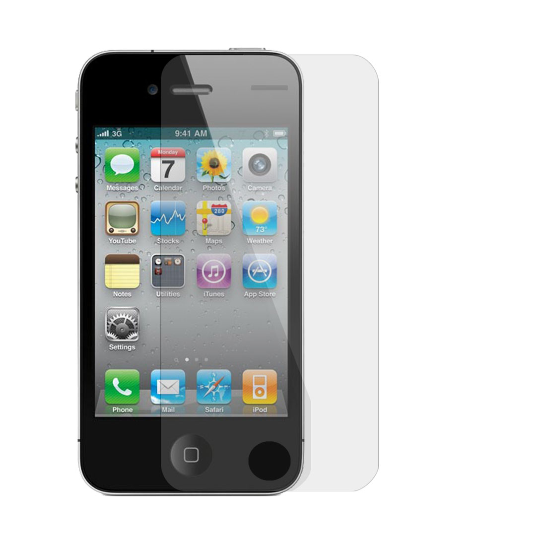 Unique Bargains Anti-dust Clear LCD Front Screen Protector for iPhone 4G
