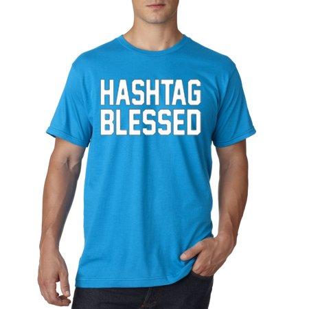 Trendy USA 395 - Unisex T-Shirt Hashtag Blessed Meme Kanye Drake 2XL Sapphire - Drake As Kanye For Halloween