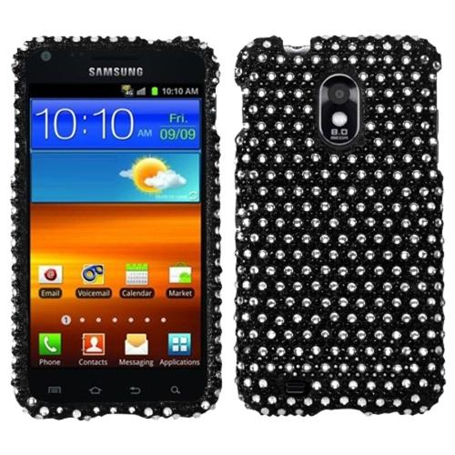 Insten Dots(Black/white) Diamante Phone Case for SAMSUNG: D710 (Epic 4G Touch), R760 (Galaxy S II), Galaxy S II 4G