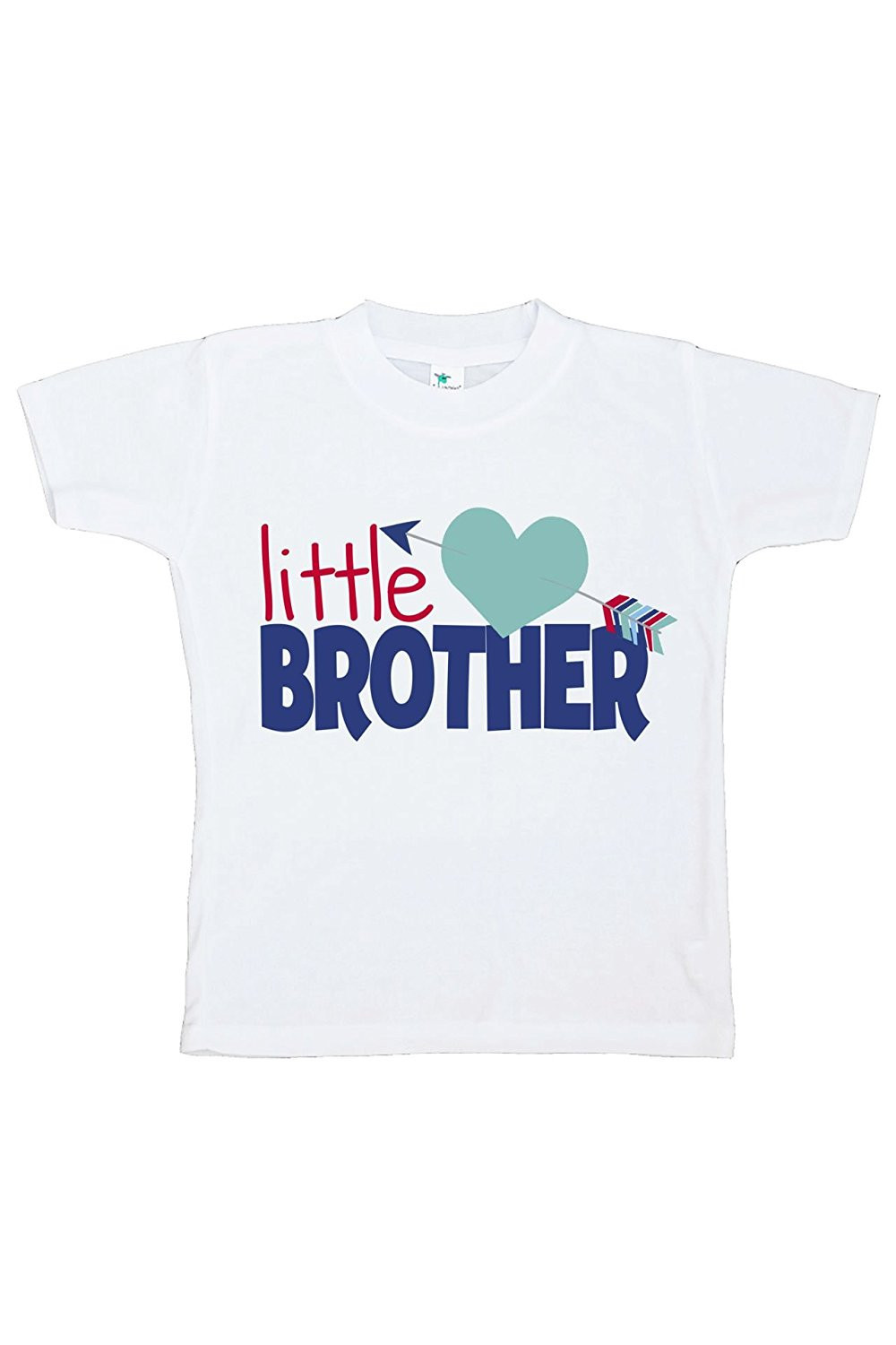 Custom Party Shop Boy's Little Brother Happy Valentine's Day T-shirt - Small Youth (6-8) T-shirt