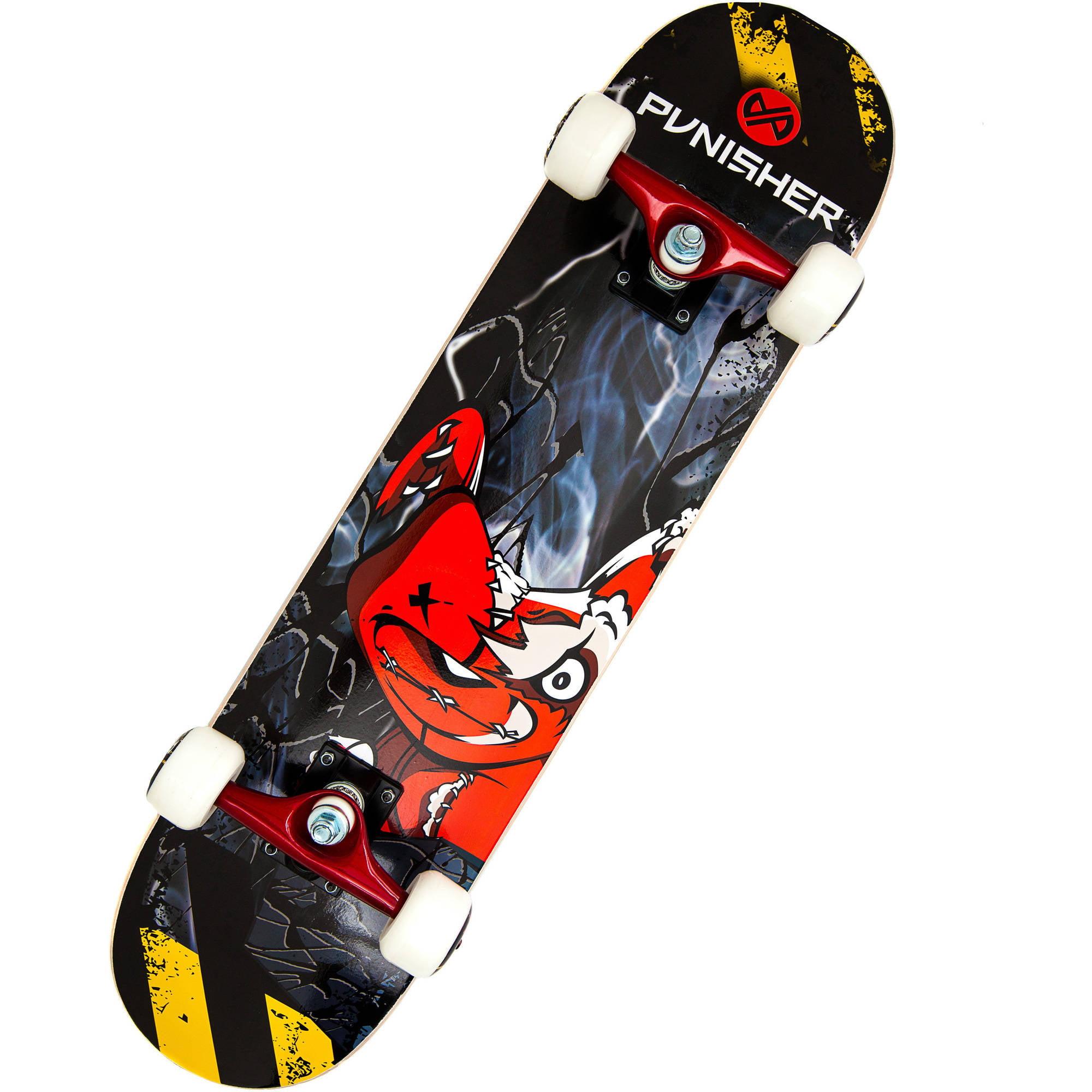 "Punisher Skateboards Teddy 31.5"" ABEC-7 Complete Skateboard by Generic"