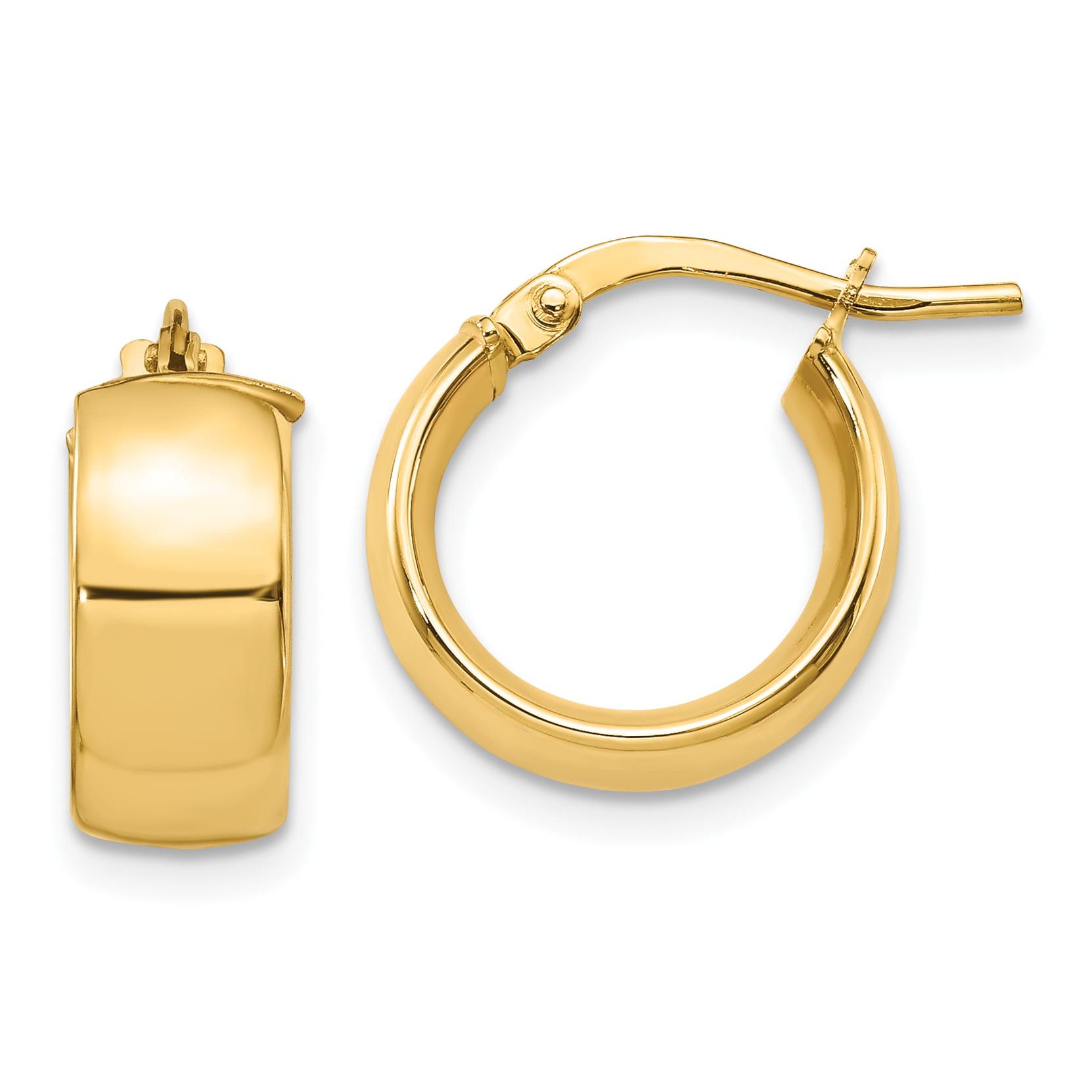 Leslies 14k 6mm High Polished Hoop Earrings - image 2 de 2