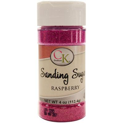 Raspberry Sanding Sugar 4 Oz. For Decorating Cookies, Cupcakes, Cake Pops,Cakes, Baked Goods (Sugar Cookie Decorating)
