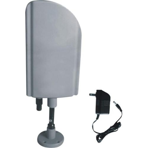 Digiwave ANT4008 Indoor & Outdoor TV Antenna with Booster - CUL Approval Adaptor  Silver Color