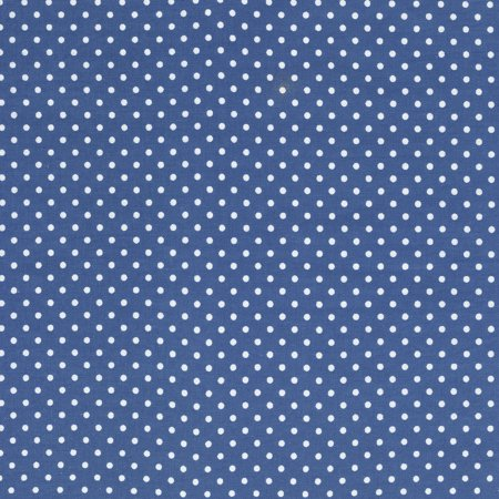 SHASON TEXTILE (3 Yards cut) 100% COTTON PRINT QUILTING FABRIC, SOFT BLUE / WHITE SMALL DOTS.