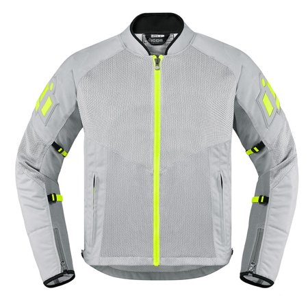 Icon Mesh AF Mens Textile Jacket Gray - Icon Motorcycle Jacket