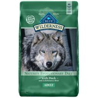 Blue Buffalo Wilderness High Protein Grain Free, Natural Adult Dry Dog Food, Duck Recipe