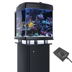 JBJ 28 Gallon Nano Cube WiFi LED Aquarium & Wavemaker with Stand
