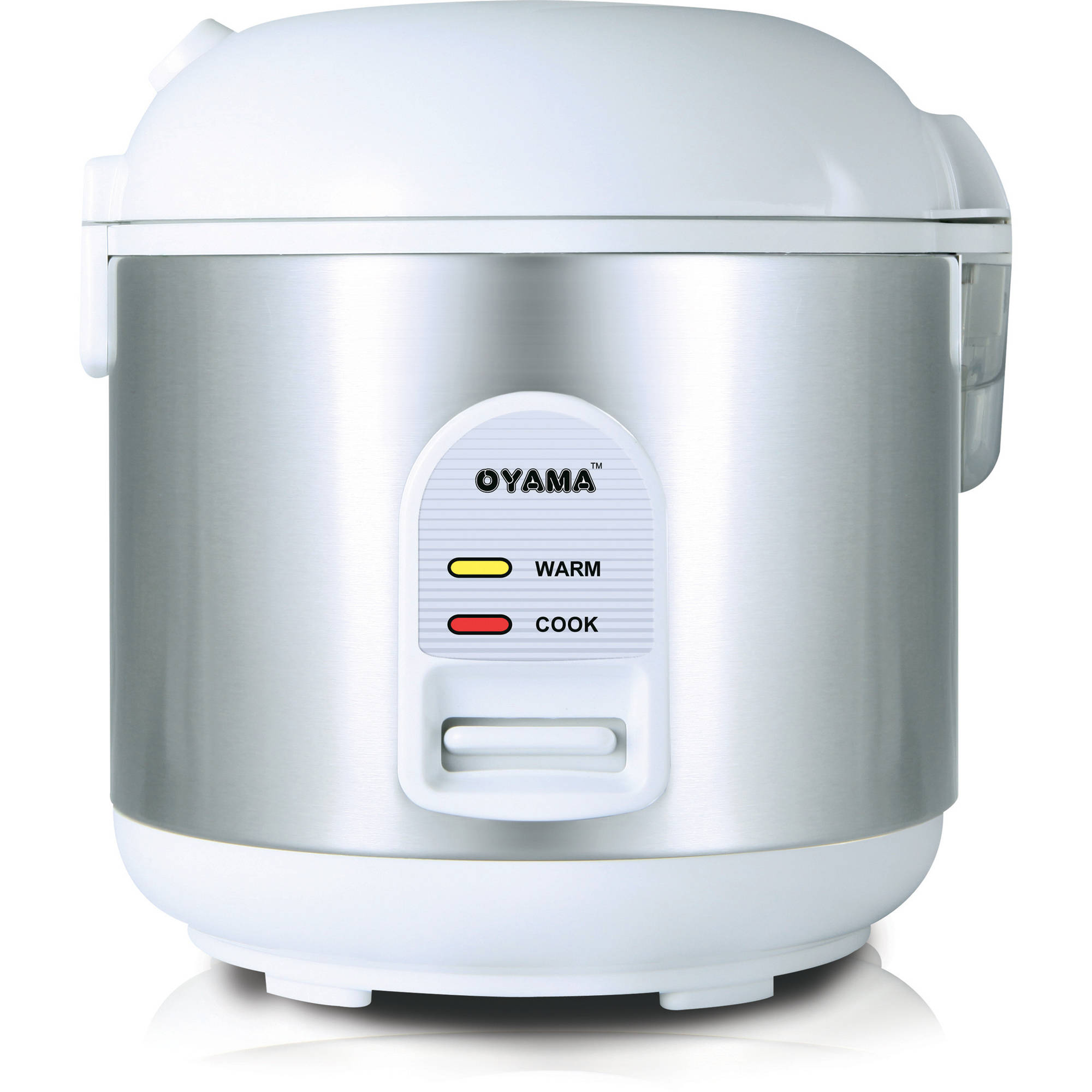 Oyama 5-Cup All Stainless-Steel Rice Cooker/Steamer/Warmer, White