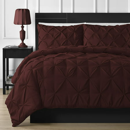 Double-Needle Durable Stitching Staniey Collection 3-piece Pinch Pleat Comforter Set ()