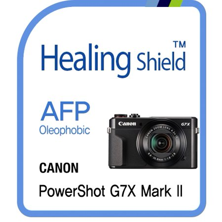Healingshield Screen Protector Oleophobic AFP Clear Film for Canon Camera PowerShot G7X Mark Ⅱ [2pcs] (Canon 1dx Screen Protector)