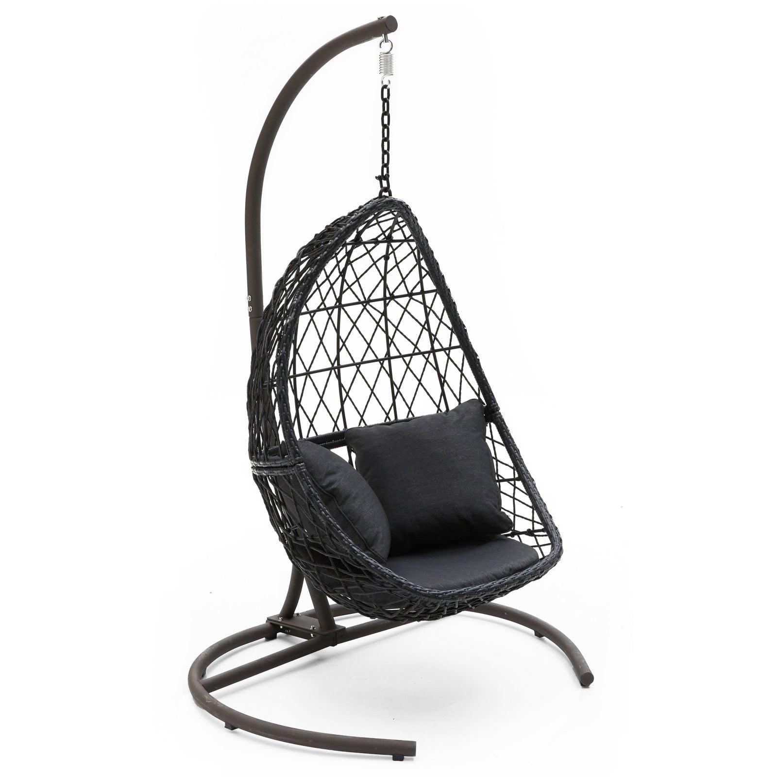 The Egg Chair.Belham Living Capeside Outdoor Wicker Hanging Egg Chair