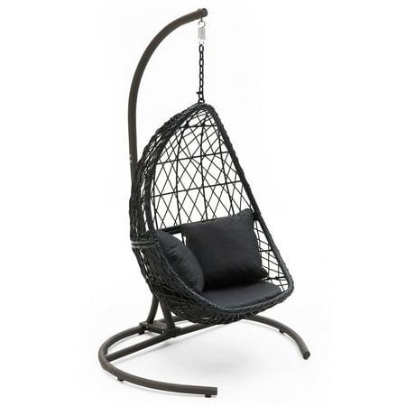Belham Living Capeside Outdoor Wicker Hanging Egg Chair ()