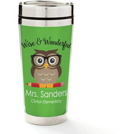Personalized Wise & Wonderful Teacher Travel Mug