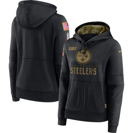 Pittsburgh Steelers Nike Women's 2020 Salute to Service Performance Pullover Hoodie - Black