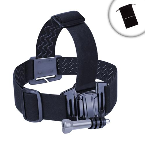 Elastic Stretch-Fit Head Strap Compact Camera Mount by USA Gear - Works With Fujifilm FinePix XP80 , Nikon Coolpix AW130 , Olympus Tough TG-4 and More
