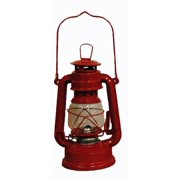 Red Hurricane Kerosene Oil Lantern Emergency Hanging Light / Lamp - 8 Inches