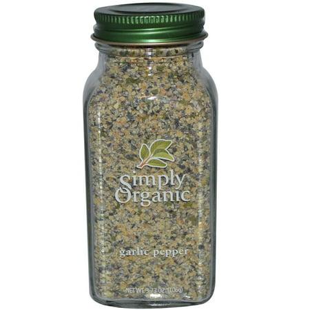 Simply Organic  Garlic Pepper  3 73 Oz Pack Of 4