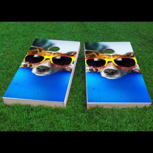 Custom Cornhole Boards Summer Dog Cornhole Game (Set of 2) by Custom Cornhole Boards