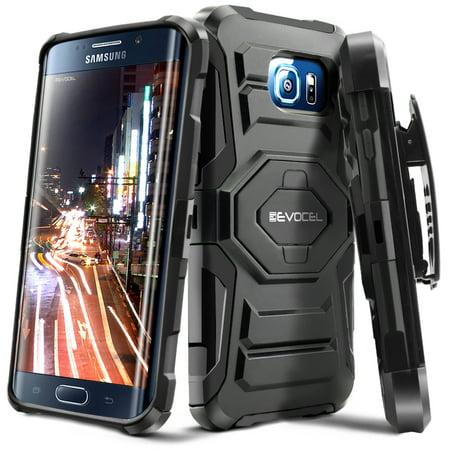 Galaxy S6 Edge Plus (G928) Case, Evocel [Belt Clip Holster] [Kickstand] [Dual Layer] New Generation Phone Case for Samsung Galaxy S6 Edge Plus (DOES NOT fit regular S6 Edge), Black