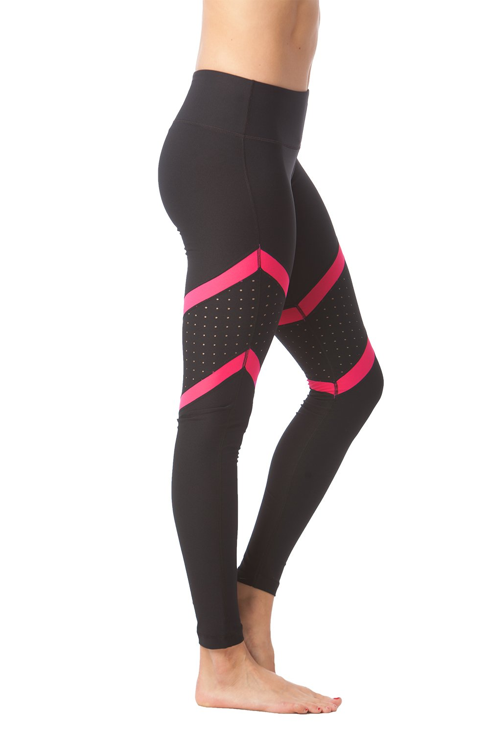 90 Degree By Reflex - Contrast Panels Shimmer Leggings