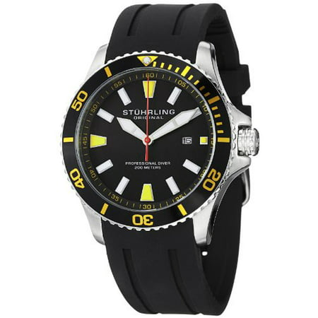 Men's 706.04 Aquadiver Regatta Quartz Date Yellow Accent Rubber Strap Diver Watch