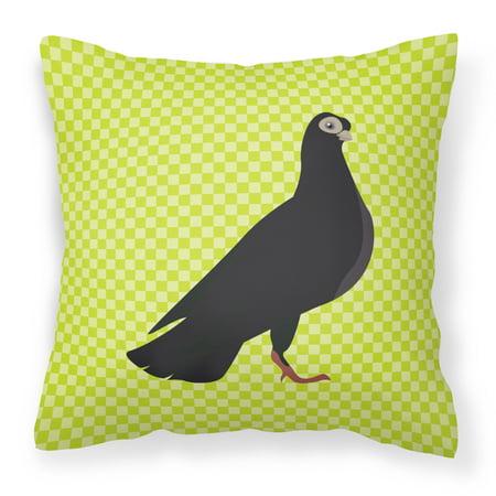 - Budapest Highflyer Pigeon Green Fabric Decorative Pillow BB7773PW1818