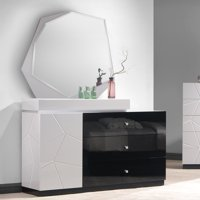 J&M Furniture Turin 3 Drawer Dresser and Mirror
