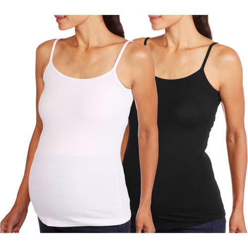 Nurture by Lamaze Maternity Extra Long Layering Cami, 2-Pack Value Bundle
