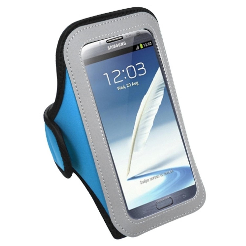 Insten Vertical Pouch Universal Baby Blue Sport Armband Phone Holder Case For Samsung Galaxy S7 S6 On5 Note 7 Core Grand Prime J7 J3 J1 2016 / ZTE Atrium Prestige Scend / LG G Stylo Stylus G5 K7
